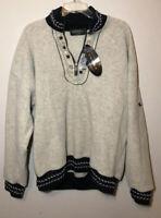 Tundra Sport Canada 1/4 Zip Fleece Wool Embroidered Sweater Size XL Beige NWT
