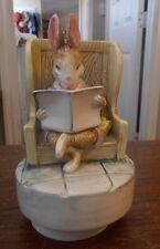 Schmid Beatrix Potter Musical Box Ceelily Parsley Nursery Rhymns Plays Tomorrow