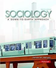 Sociology : A down-To-Earth Approach by James M. Henslin (2013, Hardcover, 12th