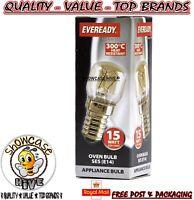 Eveready 220-240V 15w 300°C Oven Kitchen Appliance Lamp SES E14 Bulb Pygmy (E)
