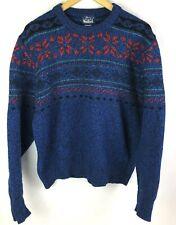 Vintage Woolrich Wool Sweater Mens Large Blue Nordic