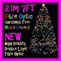 PREMIUM 2.1m 7FT 210cm DENSITY DOUBLE LAYER FIBRE OPTIC CHRISTMAS TREE (GREEN)