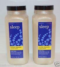 2 BATH BODY WORKS AROMATHERAPY SLEEP LAVENDER CHAMOMILE LUXURY BATH OIL BUBBLE