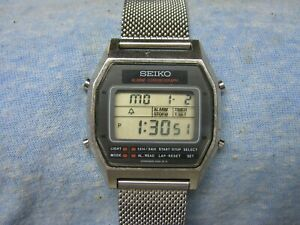 Men's SEIKO Water Resistant Digital Watch w/ New Battery