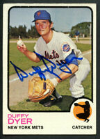 Duffy Dyer #493 signed autograph auto 1973 Topps Baseball Trading Card