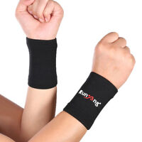 EE_ 1Pair Absorb Wrist Protect Support Brace Sport Fitness Unisex Wristband Good