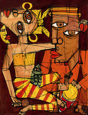 "CUBAN ART #070 ** DIEGUEZ ** LA LUNA ESTA DE FIESTA 28X36"" SIGNED ON CANVAS"