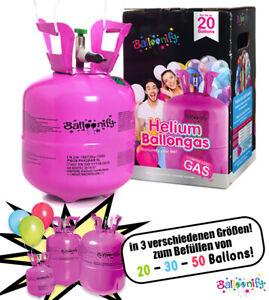 Ballongas Helium 20,30,50 Ballons Heliumflasche Party Geburtstag Folienballons