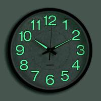Wall Clock Beautiful Green LED Analog Round Quartz Clock Design Clock Round FLA