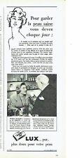 Publicité Advertising 097  1957   savon Lux  avec Nicole Courcel Mr Rouquet
