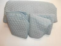 Raymond Waites Bedding King Coverlet Quilt Pillow Shams Sage Grey Green Diamond