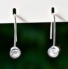 Sterling Silver 925 Round Drop Earrings