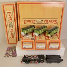 LIONEL #11-6008-1 (249E) O GAUGE STEAM PASSENGER SET WITH PROTO-SOUND 2.0-MIB!