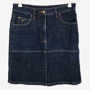 RM Williams Size 8 Skirt Dark Denim Blue Pencil Knee Length Mini BNWOT