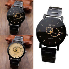 Fashion Men Women Watches Stainless Steel Round Dial Quartz Wrist Watches Gift