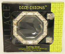 WALLACE - DATING DICE - Dice-Isions - Silverplated - DICE & Tray *NEW in BOX!