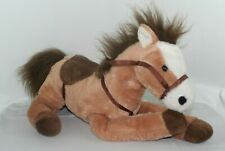 "Hug Fun Plush Floppy Plush Horse Pony w/ Saddle 19"" Tall 17"" Long Stuffed Animal"