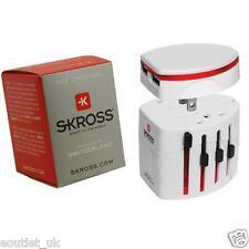 100% Genuino Skross Swiss World Viaje Adaptador 2 & Cargador USB Blanco