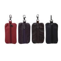 Fashion Genuine Leather Key Holder Case Keychain Pouch Bag Wallet Key Ring Purse
