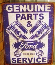 Ford Motor Parts & Service Metal Tin Ad Sign Garage Auto Shop Picture Gift USA