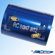 RC Boat Traxxas Spartan 36mm upgrade motor cooling jacket blue