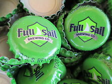 100 ( Full Sail ) ( Green ) beer bottle Caps (No Dents). Free S&H