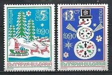 Bulgarie 1989 Nouvel an 1990 Yvert n° 3284 et 3285 neuf ** 1er choix