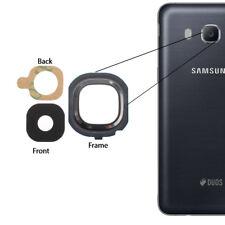Para Samsung Galaxy J5 2016 Back Cámara Vaso Lente + Frame Cover Adhesivo Negro