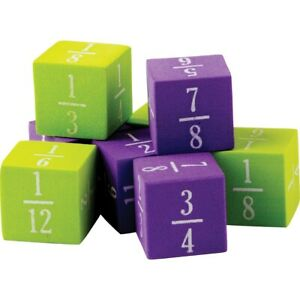 Foam Fractions Dice by Teacher Created Resources
