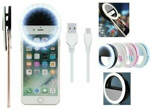 Selfie LED Light Ring Flash Clip Rechargeable Camera For Phone & Tablets Iphone