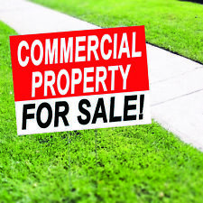 Commercial Property For Sale Indoor Outdoor Coroplast Yard Sign With H Stake