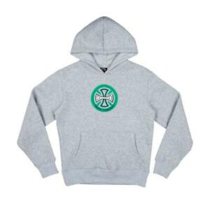 Genuine Independent Hollow Cross Youth Hoodie - Athletic Grey