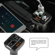 Bluetooth Car Kit Handsfree FM Transmitter MP3 Player With 3.4A Duel USB Charger