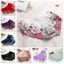 Womens Lace Floral Mesh Briefs Panties Sexy Knickers Underwear Soft Underpants