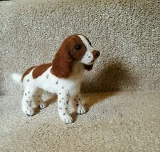 OOAK Needle felted springer spaniel artist sculpture dog