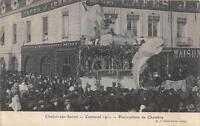 CPA 71 CHALON SUR SAONE CARNAVAL 1912 PISCICULTURE DE CHAMBRE