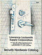 Rare Vintage 1985 Lawrence Locksmith Supply Corporation Catalog