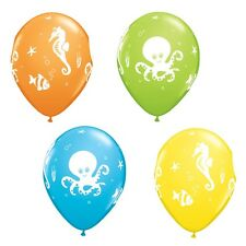 "25 x 11"" Sea Creatures Latex Balloons Ideal Birthday Beach BBQ Party Decoration"