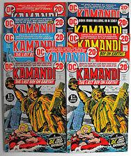 KAMANDI-1972-25 ISSUE LOT-ISSUES 1,1-8,10, 12-15, 20. 25-27, 29,29, 30-34