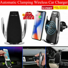 Auto Open Wireless Fast Charging Car Phone Charger Holder iPhone Samsung - Local