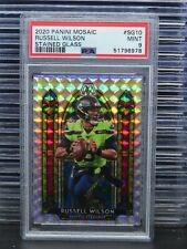 2020 Mosaic Russell Wilson Stained Glass Prizm Card Psa 9 Seahawks (78) G43