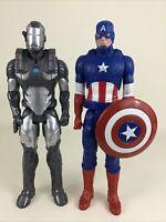 "Avengers Titan Hero Series Captain America Iron Man 12"" Figures 2013 Marvel Toy"