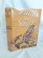 Written in Sand by Denis Warner 1st Edition 1944 HBDJ - El Alamein Tobruk WW2