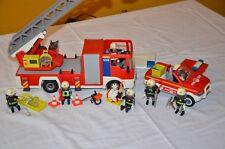 PLAYMOBIL 4820 + 4822 Feuerwehr Leiterfahrzeug + Kommandoauto - Feuerwehrauto