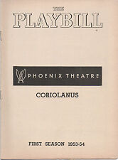 1954 Playbill Coriolanus The Phoenix Theatre Robert Ryan Mildred Natwick
