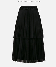 Christopher Kane SS18 polka dot tiered pleated skirt