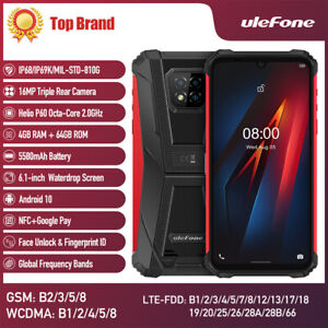 Ulefone Armor 8 Rugged Cell Phone Unlocked Android10 4G Mobile Phone Waterproof