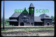 Original Slide, PC Penn Central Niles MI Michigan Station Depot, 1972