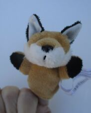 zend Brown Fox WOODLAND FINGER PUPPET plush Ganz