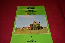 Deutz D 30 06 Tractor Dealer's Brochure YABE15